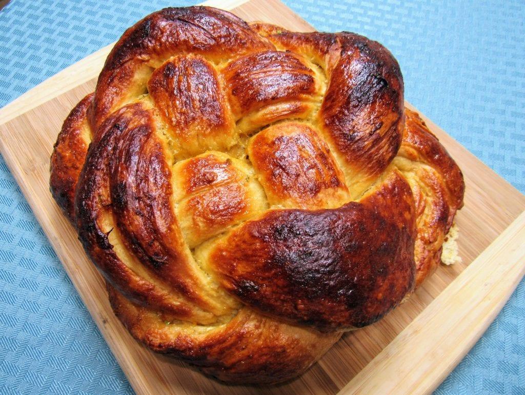 honey glazed challah