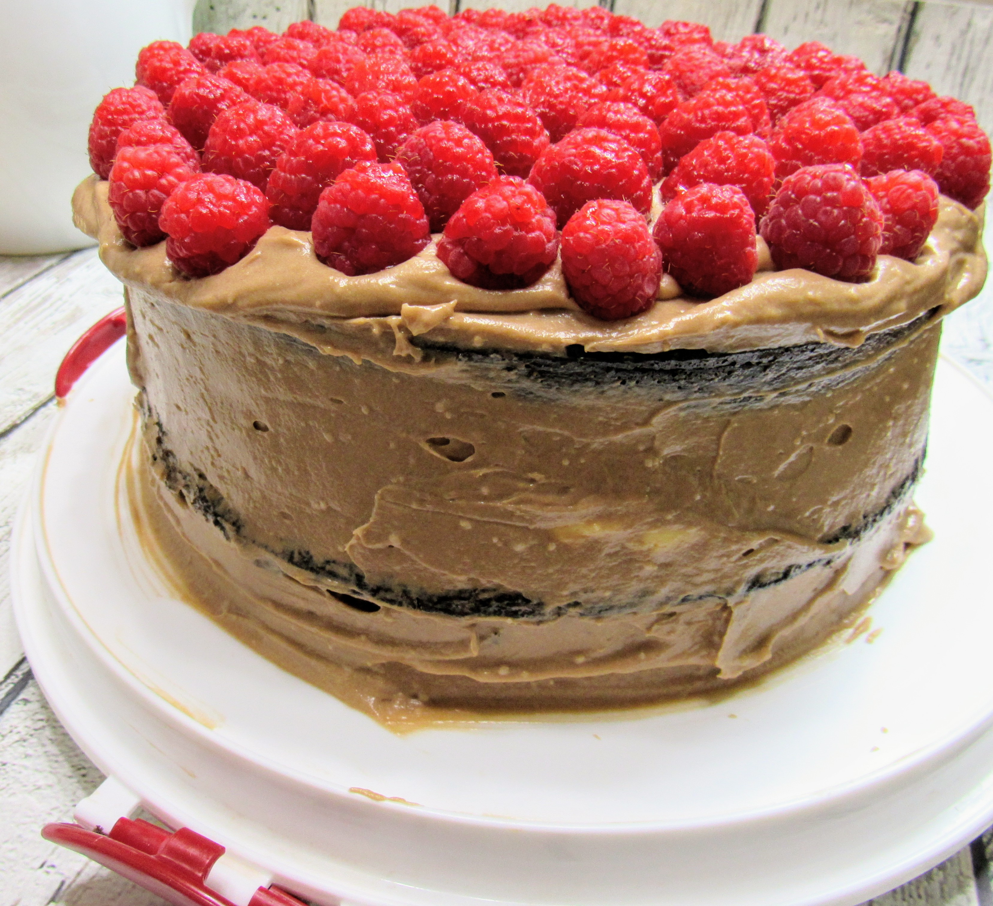 chocolate raspberry explosion cake