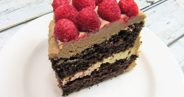 Chocolate Raspberry Explosion Cake
