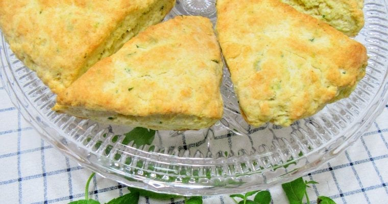 Fresh Mint and Lemon Scones