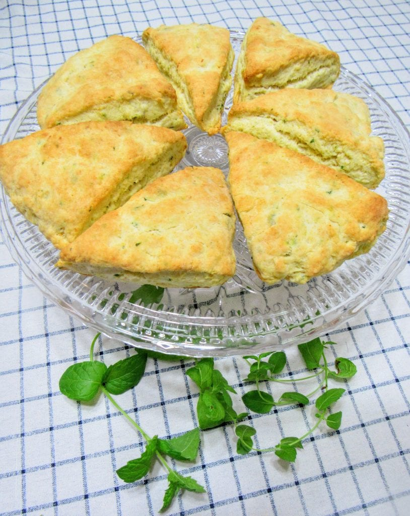 mint and lemon scones